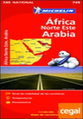 Mapa National Africa Norte Este Arabia . Edicion 2012
