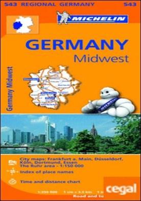 Mapa Regional Germany Midwest