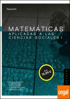 Matemáticas aplicadas a las ciencias sociales I. 1º Bachillerato (LOMCE)