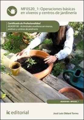 Operaciones básicas en viveros y centros de jardinería