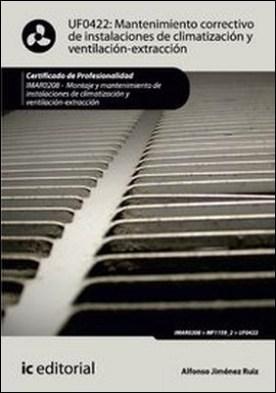Mantenimiento correctivo de instalaciones de climatización y ventilación-extracción