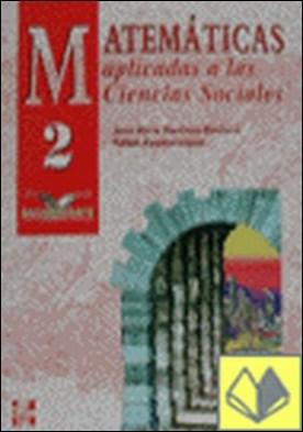 Matemáticas aplicada a las ciencias sociales, 2 Bachillerato