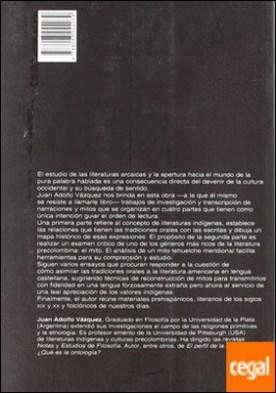Literaturas indígenas de América . introducción a su estudio por VAZQUEZ PDF