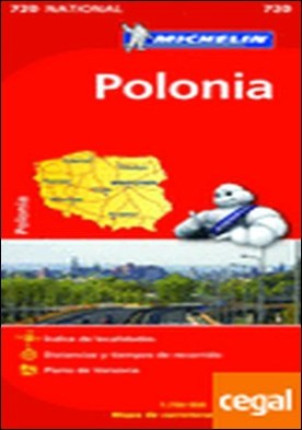 Mapa National Polonia . Escala 1:700.000; 1cm: 7 km