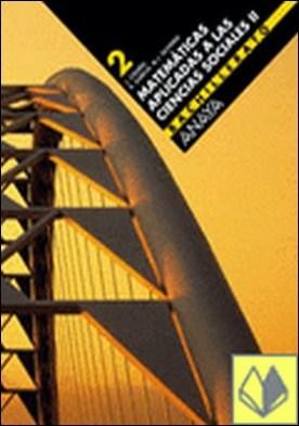 Matemáticas aplicadas a las Ciencias Sociales II . 2º Bachillerato