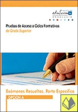 Pruebas de acceso a ciclos formativos de grado superior (Andalucía). Exámenes resueltos. Parte específica, opción A . Opción A. Andalucía