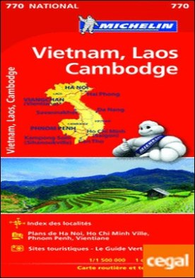 Mapa National VIETNAM, LAOS, CAMBODGE