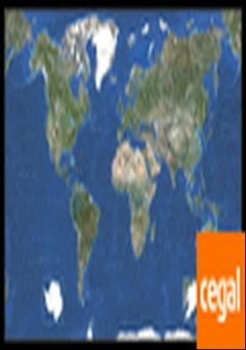 Planisferio Foto Satélite . 87x146 cm. Escala 1/28.500.000