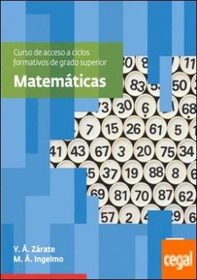 Matemáticas. Curso de acceso a ciclos formativos de grado superior