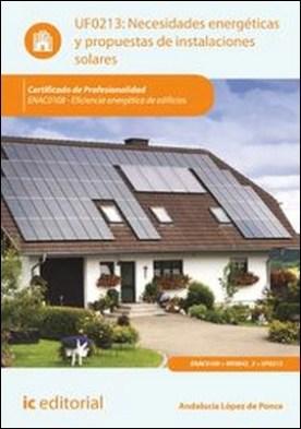 Necesidades energéticas y propuestas de instalaciones solares