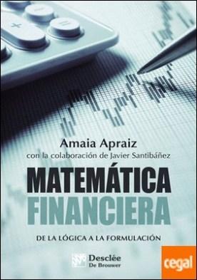 Matemática financiera. De la lógica a la formulación