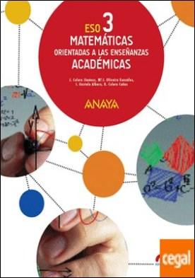 Matemáticas orientadas a las Enseñanzas Académicas 3. (Colegios Bilingües)