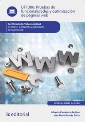 Pruebas de funcionalidades y optimización de páginas web
