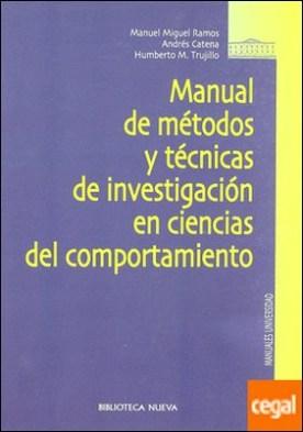 Manual de métodos y técnicas de investigación en ciencias del comportamiento por Ramos, M. M. PDF