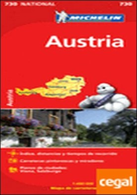 Mapa National Austria . Escala 1:400.000; 1 cm: 4 km