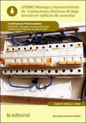 Montaje y mantenimiento de instalaciones eléctricas de baja tensión en edificios de viviendas