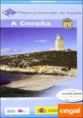 Mapa provincial de A Coruña, E 1:200.000