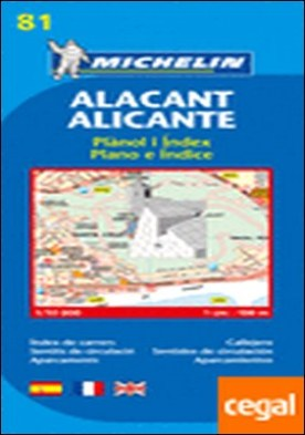 Plano Alacant/Alicante . Escala 1/10 000 - 1cm: 100m.