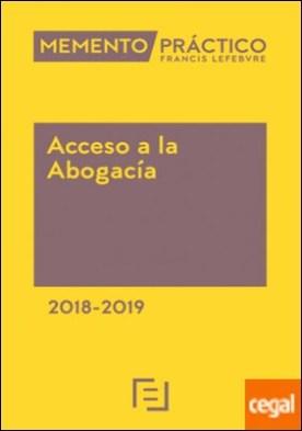 Memento Acceso a la Abogacía 2018-2019
