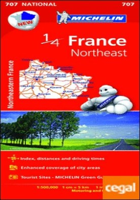 Mapa National France Northeast . Escala 1:500.000, 1 cm=5 km, 1in:7.9 miles