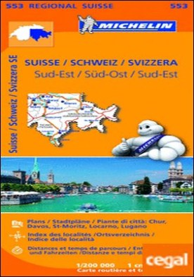 Mapa Regional Suisse Sud-Est/ Schweiz Süd-Ost/ Svizzera Sud-Est