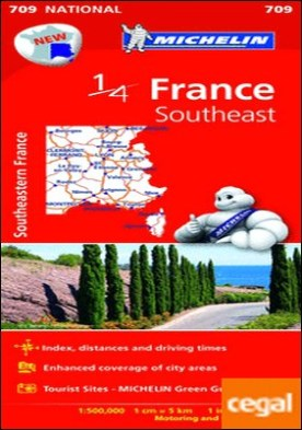 Mapa National France Southeast . Escala 1:500.000, 1 cm=5 km, 1in:7.9 miles