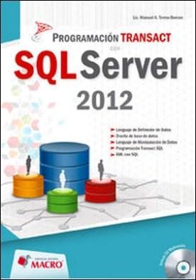 Programación Transact SQL Server 2012