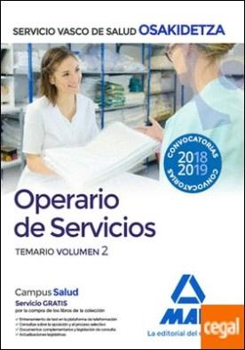 Operario/a de Servicios de Osakidetza-Servicio Vasco de Salud. Temario Volumen 2