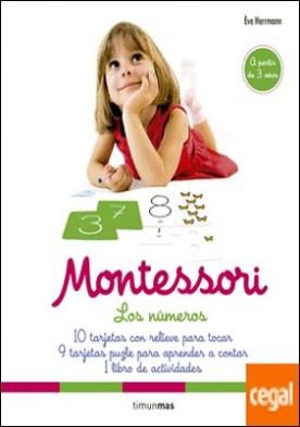 Montessori. Los números . 10 tarjetas con relieve para tocar. 9 tarjetas puzle para aprender a contar. 1 libro de actividades