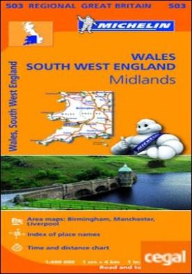 Mapa Regional Wales, South West England, Midlands