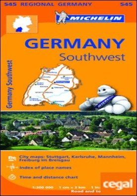 Mapa Regional Germany Southwest