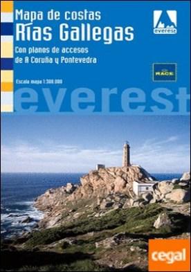 Mapa de Costas Rías Gallegas . Con planos de accesos de A Coruña y Pontevedra