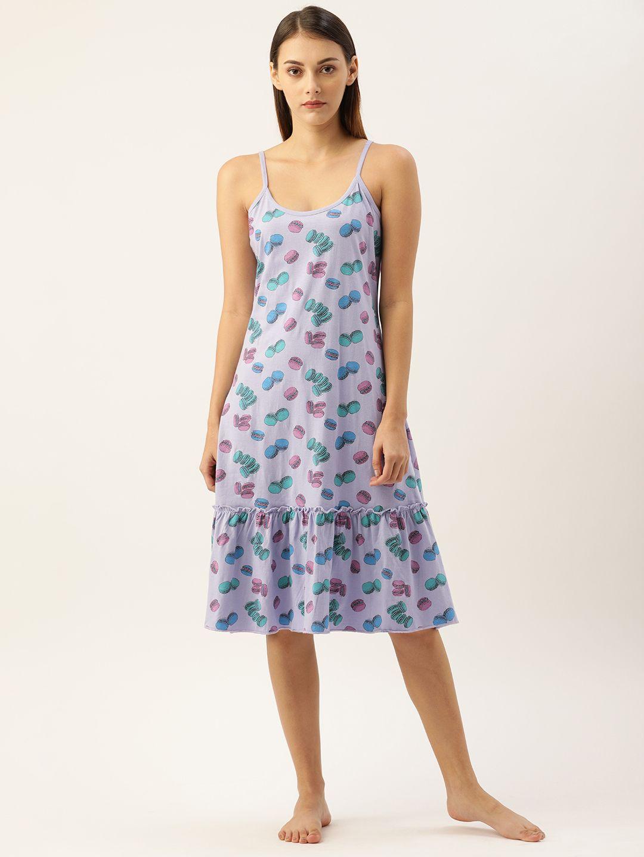 Slumber Jill Purple Heather Macaron Night Dress