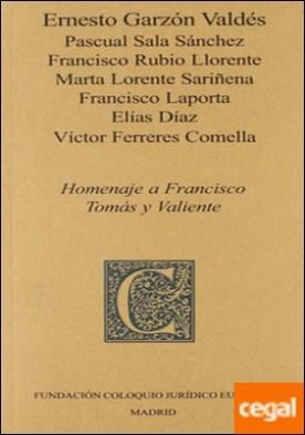 Homenaje a Francisco Tomás y Valiente