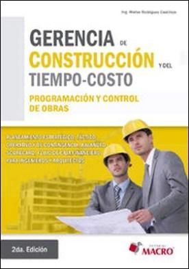 Gerencia de construcción y del tiempo - costo