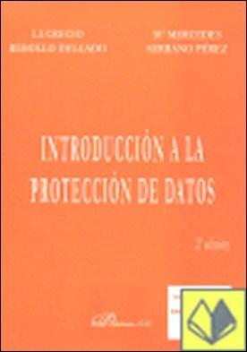 Introducción a la protección de datos por Rebollo Delgado, Lucrecio PDF