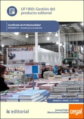 Gestión del producto editorial. argn0210 - asistenica a la edición