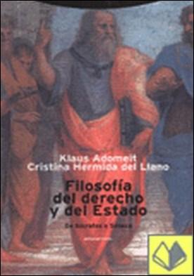 Filosofía del derecho y del Estado. De Sócrates a Séneca