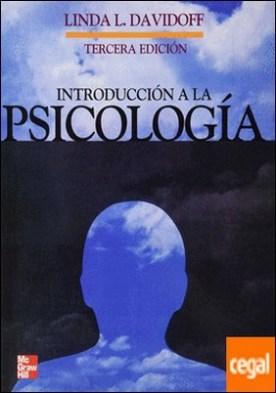 INTRODUCCION A LA PSICOLOGIA por DAVIDOFF, LINDA L. PDF