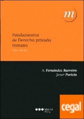 Fundamentos de Derecho privado romano