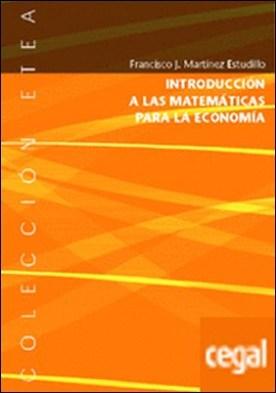 Introducción a las matemáticas para la economía