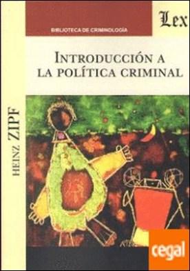 INTRODUCCION A LA POLITICA CRIMINAL por ZIPF, Heinz PDF
