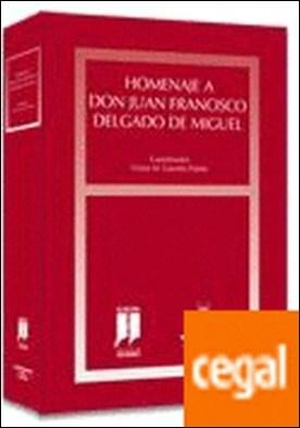 Homenaje a D. Juan Francisco Delgado de Miguel