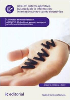 Sistema Operativo, búsqueda de información: Internet/Intranet y correo electrónico. ADGN0210 por Gabriel Carmona Romera PDF