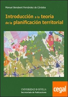 Introducción a la teoría de la planificación territorial