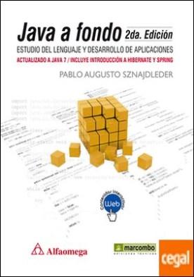 Java a Fondo . Estudio del lenguaje y desarrollo de aplicaciones
