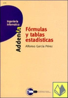Fórmulas y tablas estadísticas . Addenda 41206