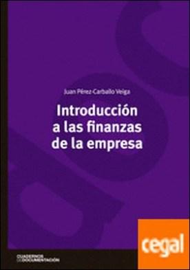 Introducción a las finanzas de la empresa