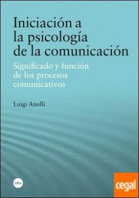Iniciación a la psicología de la comunicación