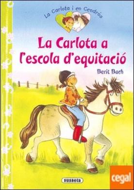 La Carlota a l'escola d'equitació